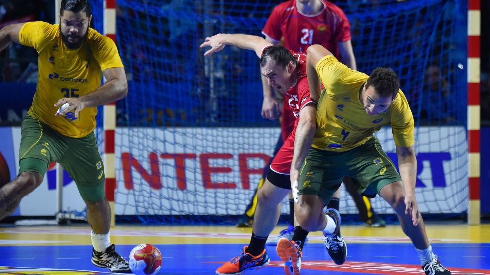 Imagen del partido entre Rusia y Brasil, de la última jornada en el...