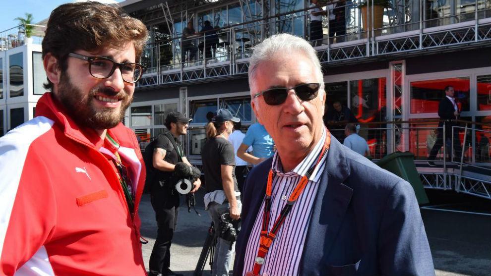 Piero Ferrari durante un Gran Premio