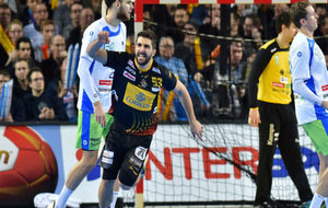 David Balaguer celebra un gol.