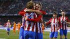 Griezmann, Gameiro y Koke celebran el tercer gol del Atl�tico ante el...