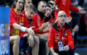 El seleccionador español Jordi Ribera durante el partido del Mundial...