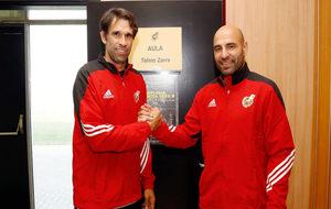Manuel Pablo y Valerón comparten aula durante el curso de...