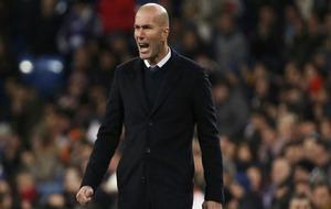 Zidane, durante el partido ante el Celta