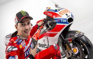 Jorge Lorenzo con su nueva Ducati