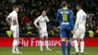 Kroos, Cristiano y Casemiro se lamentan ante Aspas tras un gol del...