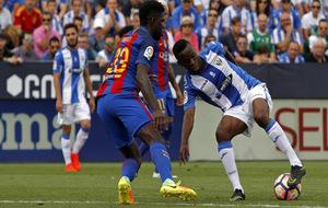 Koné en el partido de Liga contra el FC Barcelona.