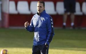 Rubén Baraja, durante un entrenamiento del equipo rayista