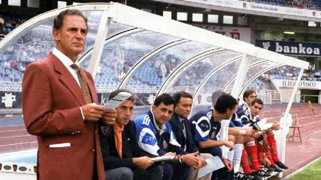 Carlos Alberto Silva, en su etapa de entrenador del Dépor en Anoeta