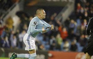 Iago Aspas (29), celebrando un tanto con el Celta esta temporada.
