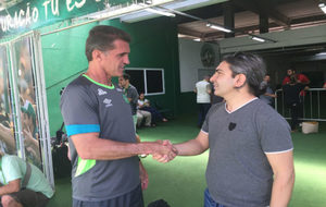 Fabián junto al entrenador del Chapecoense, Vagner Mancini