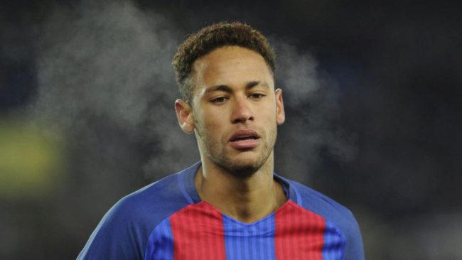 Neymar, durante el partido de Copa contra la Real Sociedad.