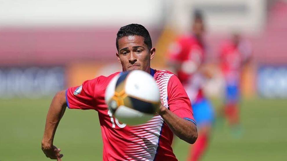 Gerson Torres, en un partido con Costa Rica.