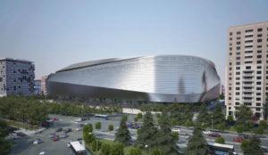 Imagen del exterior de la reforma del Bernabéu