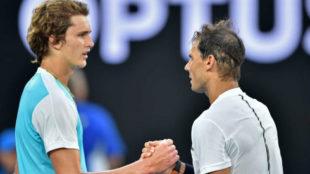Zverev y Nadal se felicitan en la red