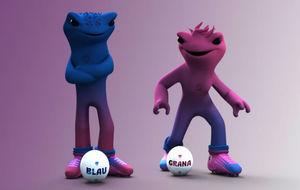 Blau y Grana, mascotas del Levante UD.