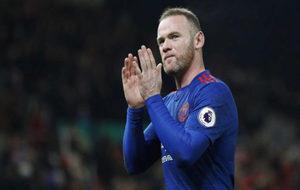 Rooney celebra su gol al Stoke.