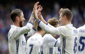 Entre Ramos y Kroos sumaron 35 puntos Fantasy ante el Málaga.
