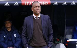 Romero en el banquillo del Bernabéu