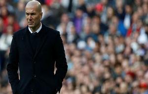 Zidane, durante el partido de ayer.