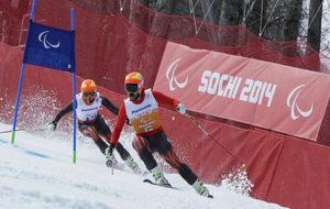 Jon Santacana y Miguel Galindo en los Juegos Paralímpicos de Sochi.