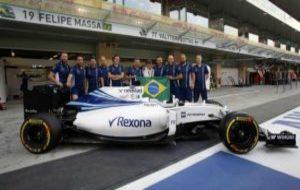 Massa y el Williams del GP de Brasil.
