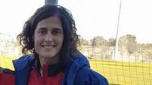 Montse Tomé en la Ciudad del Fútbol de Las Rozas.