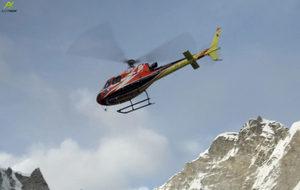 El helicópetero en el que han trasladado a Carlos Rubio a un hospital...