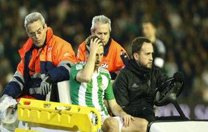 Brasanac, retirado por las asistencias tras sufrir la lesión