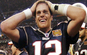 Así lucía Brady en aquel Super Bowl.