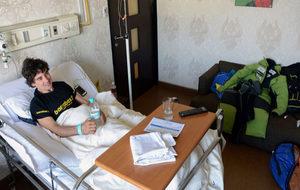Carlos Rubio, en el hóspital.