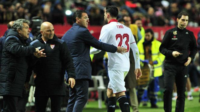 El TAD le quita una de las tarjetas amarillas que vio Adil Rami ante el Málaga