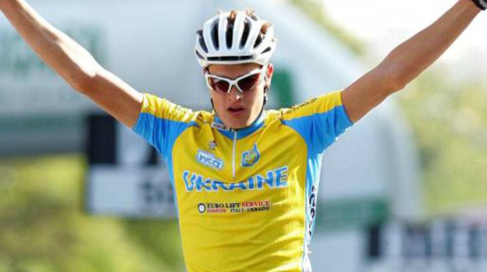Dmitriy Grabovskyy celebrando su triunfo en el Mundial de Madrid de...