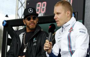 Lewis Hamilton junto a su nuevo compa�ero, Valtteri Bottas