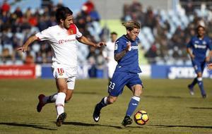Lekic durante el partido Getafe-Mallorca de la actual temporada en el...