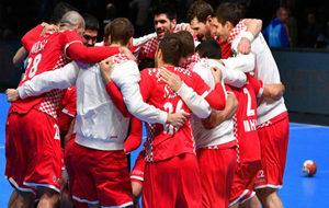 La selección de Croacia tras ganar su partido de octavos de final.