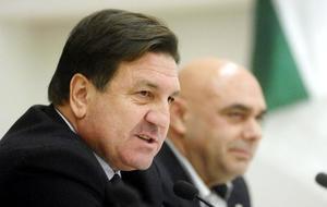 José Sepulcre (60), durante una rueda de prensa en su etapa como...