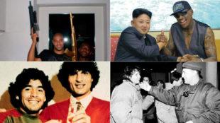 Adriano, Rodman, Maradona y otros �dolos que se dejaron fotografiar...