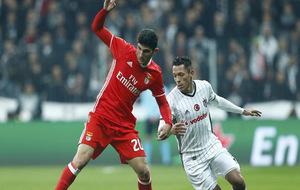 Gonçalo Guedes durante un partido de Europa League.