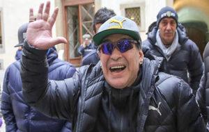 Maradona, esta semana en Florencia.