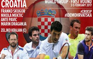 El equipo croata de Copa Davis