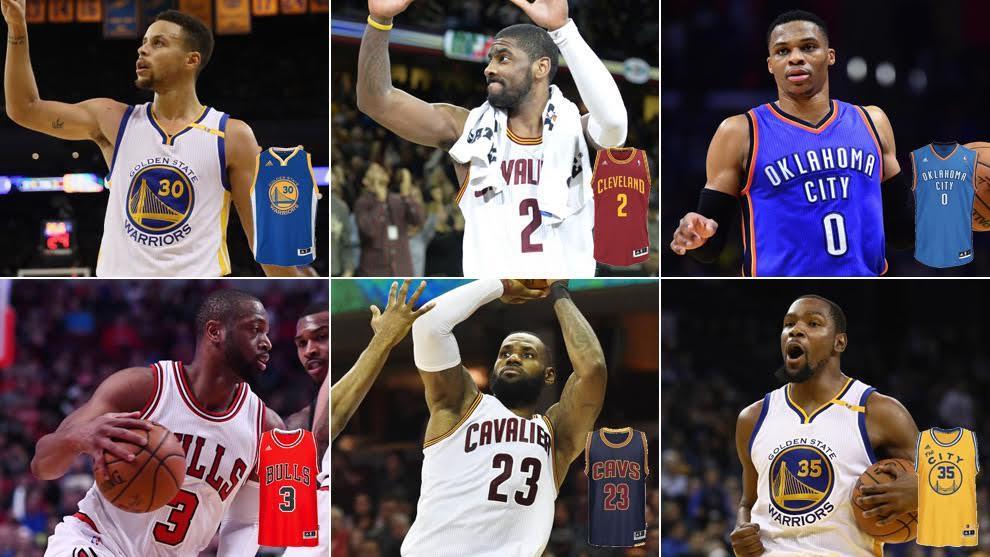 Top 15 de venta de camisetas en la NBA
