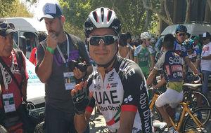 Darwin Atapuma, poco antes de la primera etapa de la Vuelta a San...