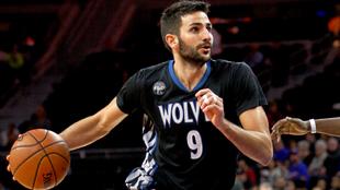 Ricky Rubio jugando con los Timberwolves