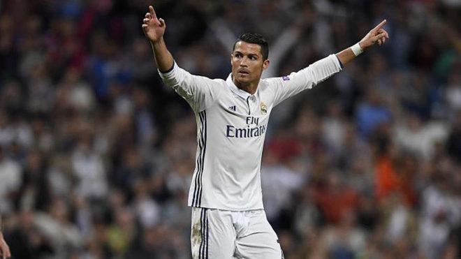 Cristiano celebra un gol con el Real Madrid esta temporada.