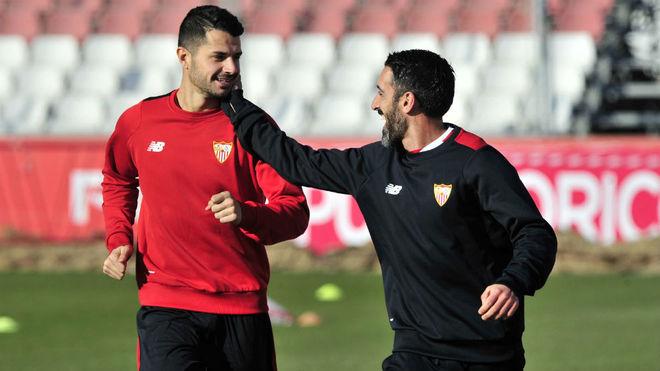 Vitolo se probará mañana para ver si puede jugar contra el Espanyol