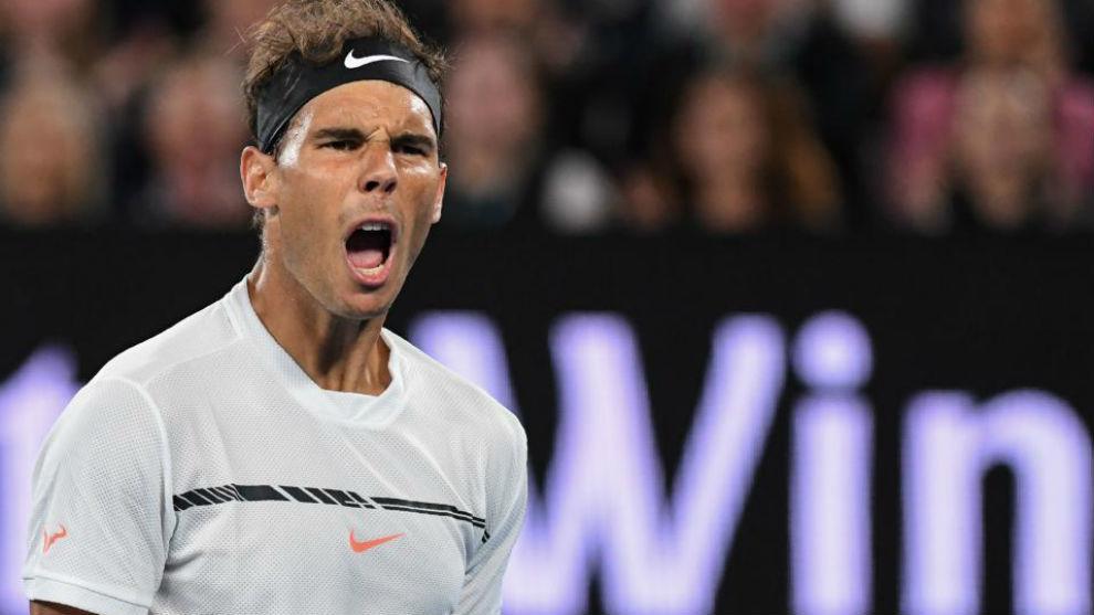 Nadal celebra su pase a semifinales
