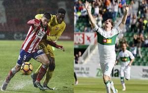 Portu, en el último partido del Girona ante el Sevilla Atco. y Álex...