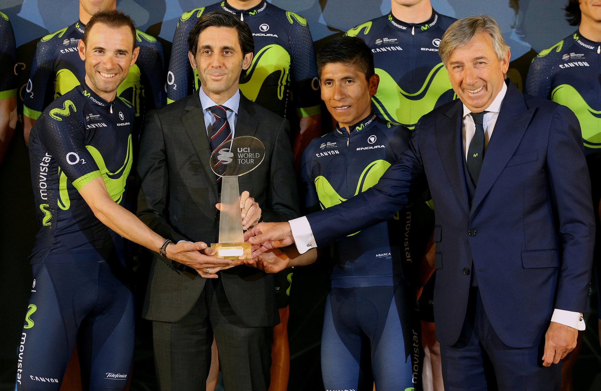 Alejandro Valverde, Jose María Álvarez Pallete, Nairo Quintana y...