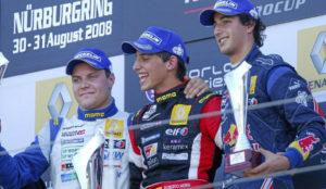 Merhi, despues de ganar a Bottas y Ricciardo en una prueba de la...