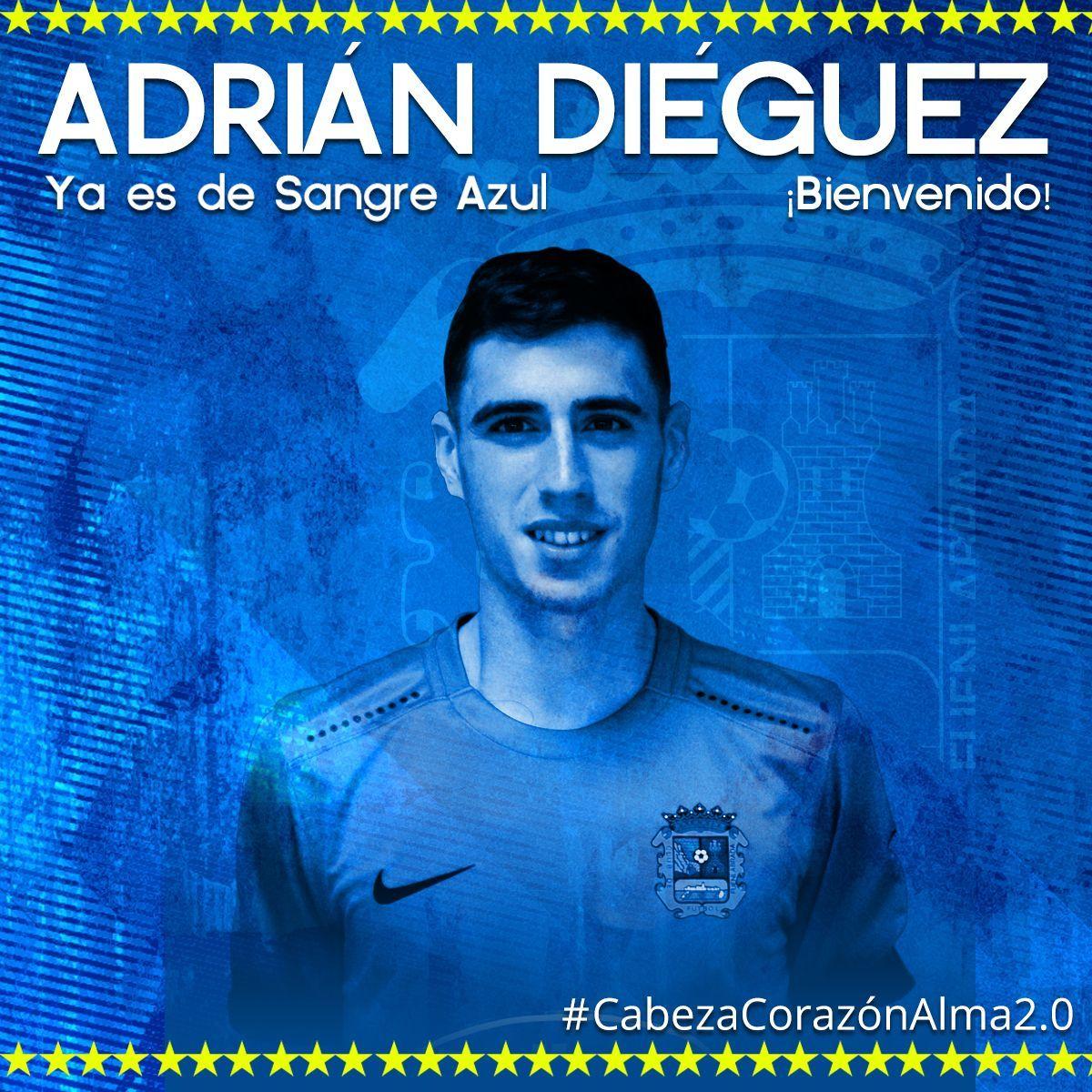 Adrián Diéguez con la camiseta del CF Fuenlabrada